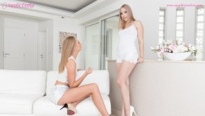 amateur photo Sensual lesbian lovemaking by Alana Moon and Ivana Sugar