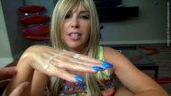 amateur photo Blue Nails