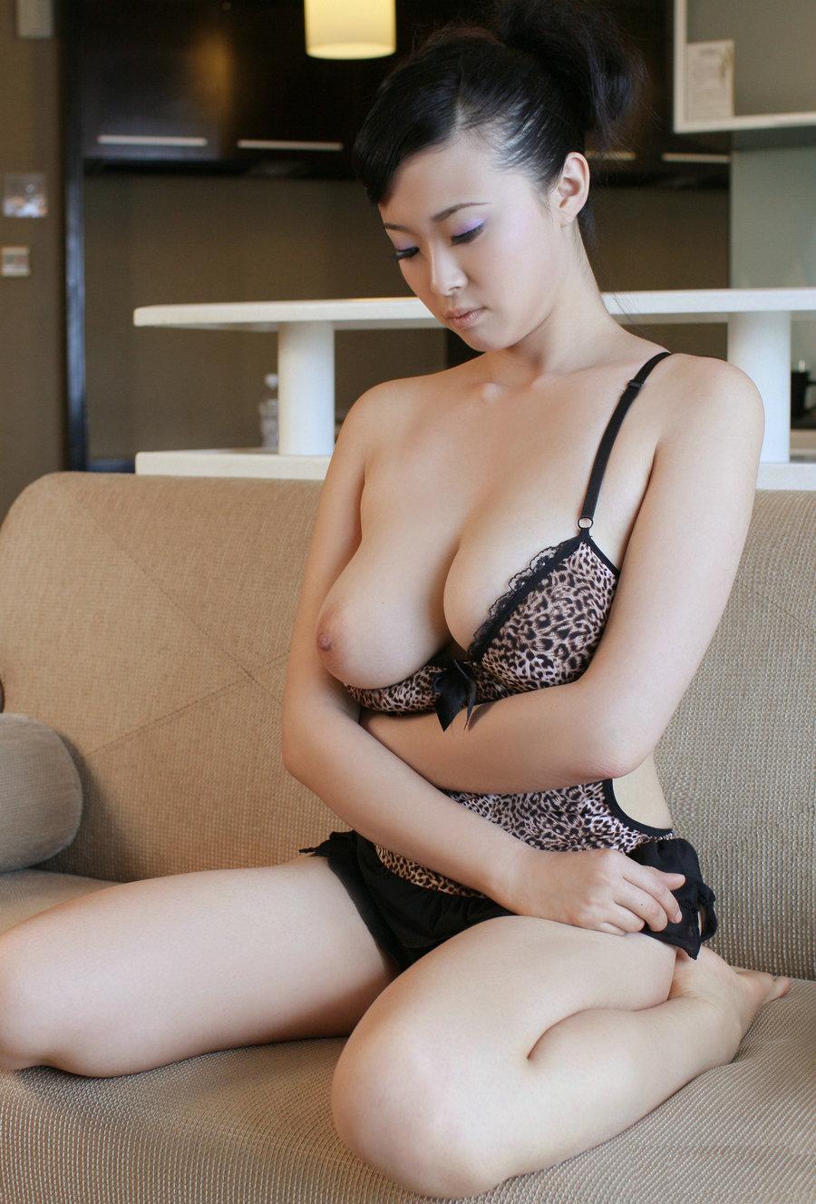 Big boobs asian model