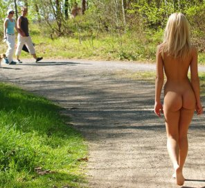 amateur photo Nice butt out for a walk