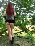 amateur photo Skirt up in the woods