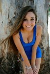 amateur photo Sexy blue dress