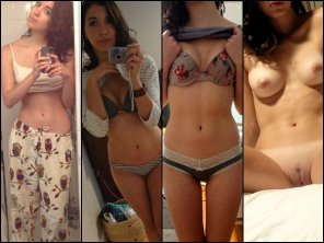 amateur photo Hotty in various states of undress