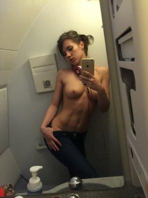 amateur photo In flight selfie
