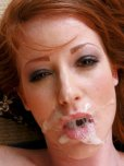 amateur photo Red hair, brown eyes, plastered face