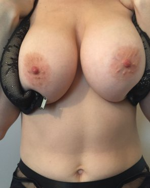 amateur photo Going to struggle to close the bra back up