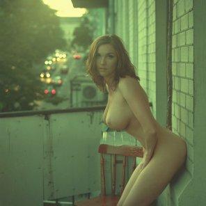 amateur photo On the balcony