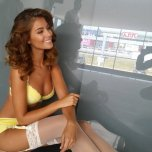 amateur photo Desire Cordero in white stockings