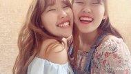 Cute Asian twins