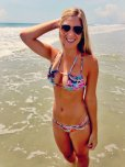 amateur photo Blonde babe at the beach.