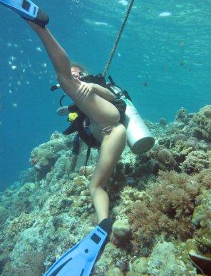 amateur photo Nude scuba