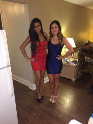 amateur photo Red and Blue Dresses
