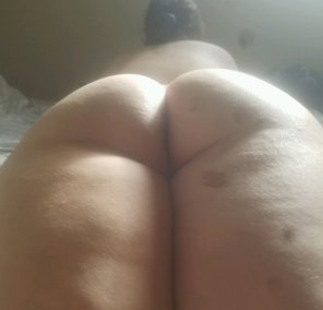 amateur photo My thick and shy wife's delicious, round booty.