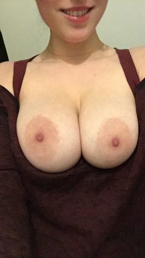 amateur photo [F]alling out of my shirt