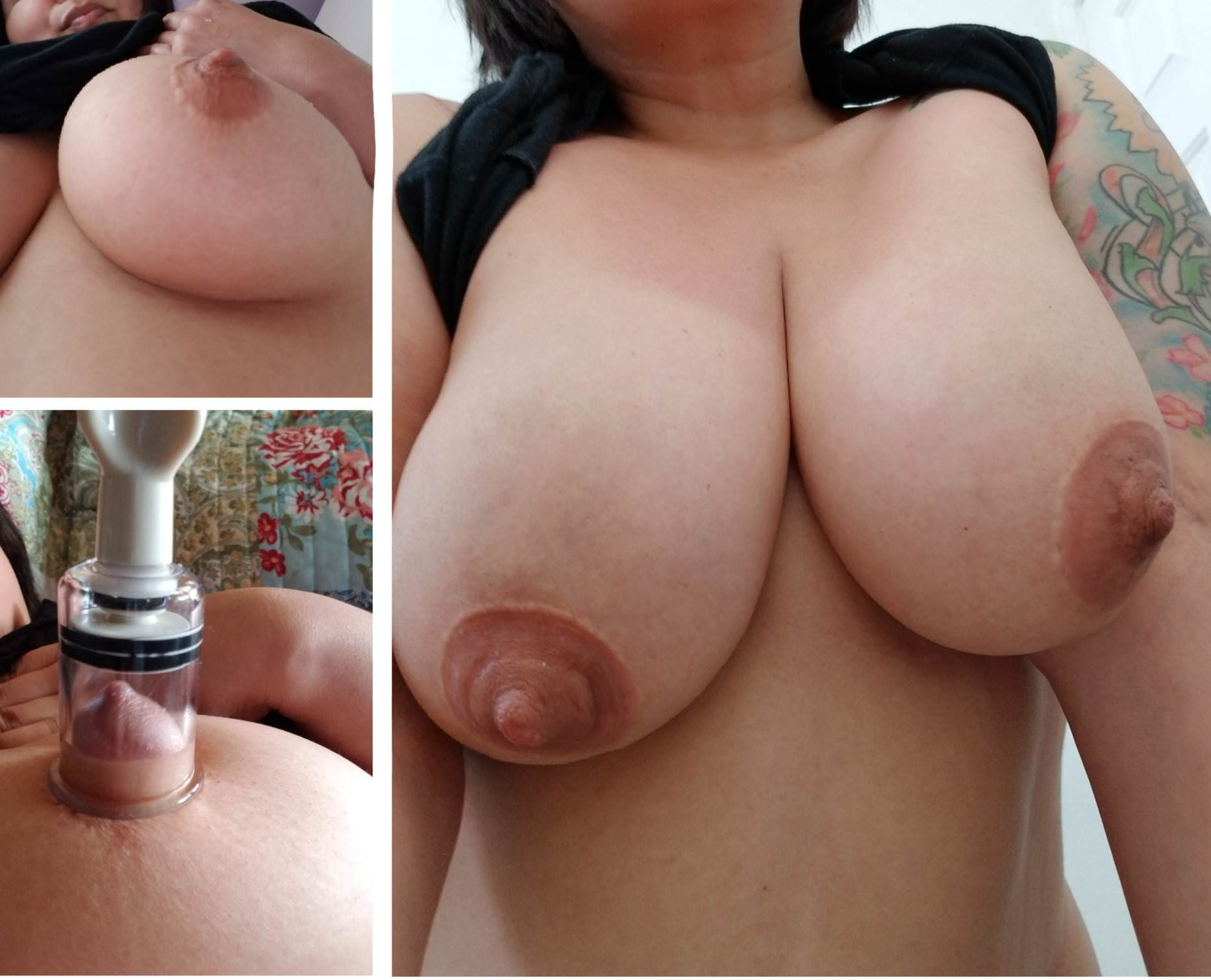 real amateur wives in nipple suction cups