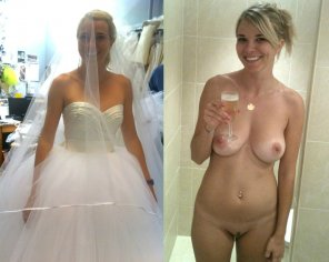 amateur photo Before and After the Wedding