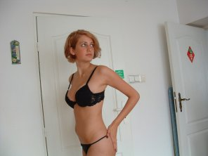 amateur photo Hot in bra and panties