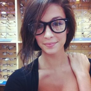 amateur photo Trying On Glasses