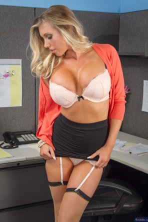 amateur photo Undressed in the office