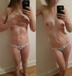 amateur photo hand bra on/off