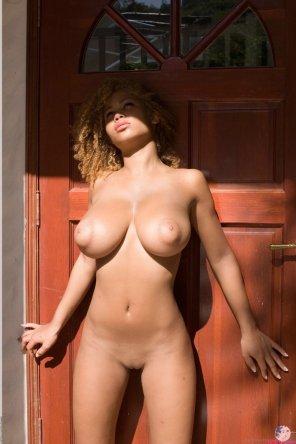 amateur photo Against the door