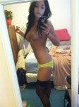 amateur photo Bright colored garter belt