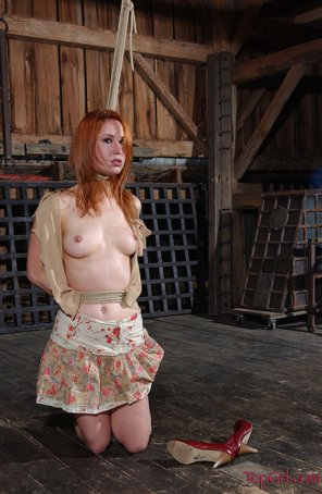 amateur photo Redhead just found out about the dungeon