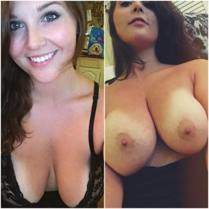 amateur photo Big boobs With/Without Shirt