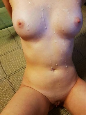 amateur photo Cum Covered and Perky [OC]