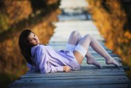 White stockings on the boardwalk