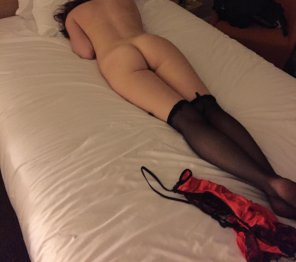 amateur photo Black stockings