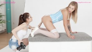 amateur photo Sensual lesbian lovemaking by Rebecca Volpetti and Vyvan Hill