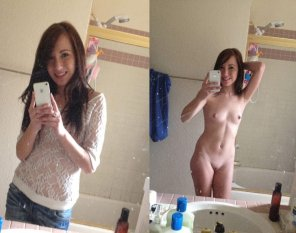 amateur photo Petite girl selfies
