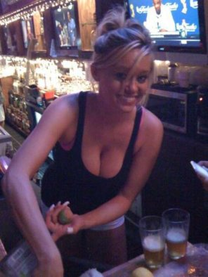 amateur photo She can tend my bar