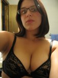 amateur photo Brunette with glasses.