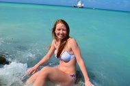 amateur photo Redhead in paradise.