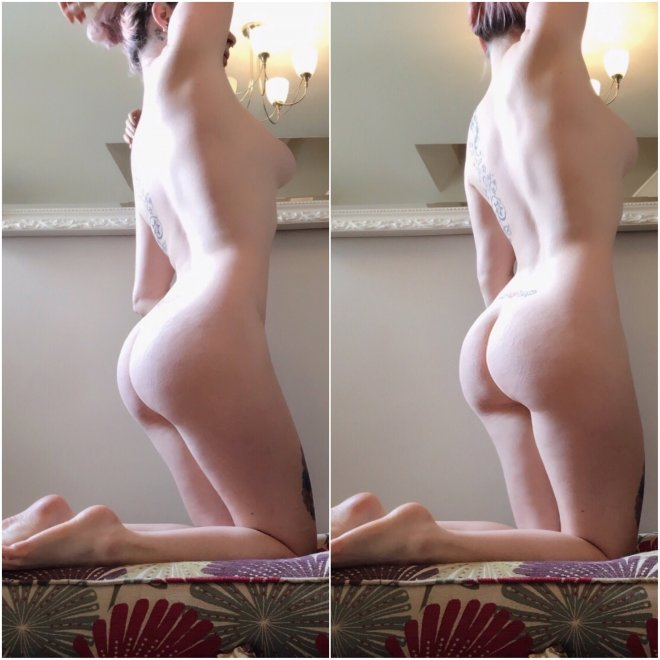 Just a couple of pictures of my little butt. Porn Photo