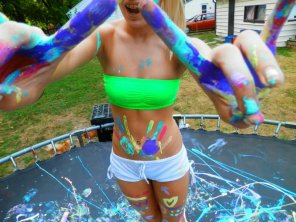 amateur photo Body Paint