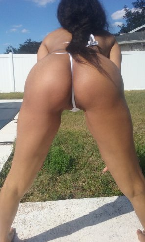 amateur photo White Thong