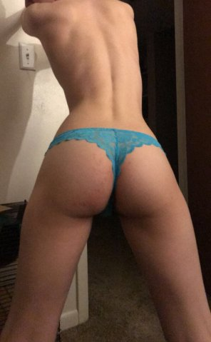 amateur photo [F]eeling myself in this lacy thong!