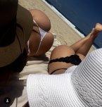 amateur photo Beach thongs.