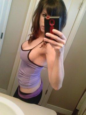 amateur photo Purple top
