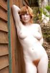 amateur photo Gorgeous ginger outside