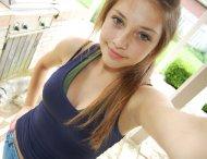 Tank top selfie