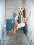 amateur photo Cute little blonde with a leg up
