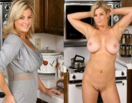 amateur photo Blonde on the kitchen