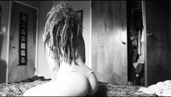 Dreadhead in thong Porn Photo