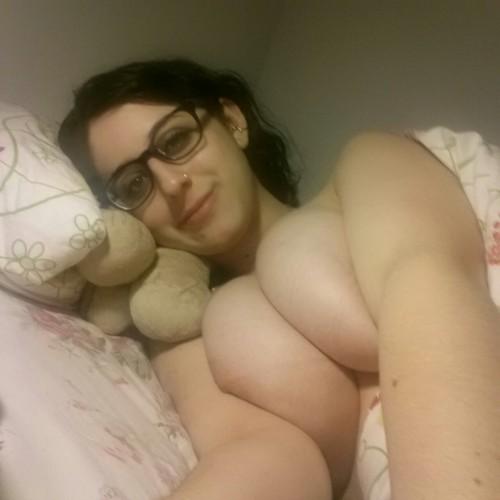 on Naked bed selfie