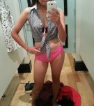 amateur photo Sexy asian trying on panties. Hope she bought those!