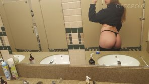 amateur photo [F]18 A sneaky peek from the bathroom at my office 😉